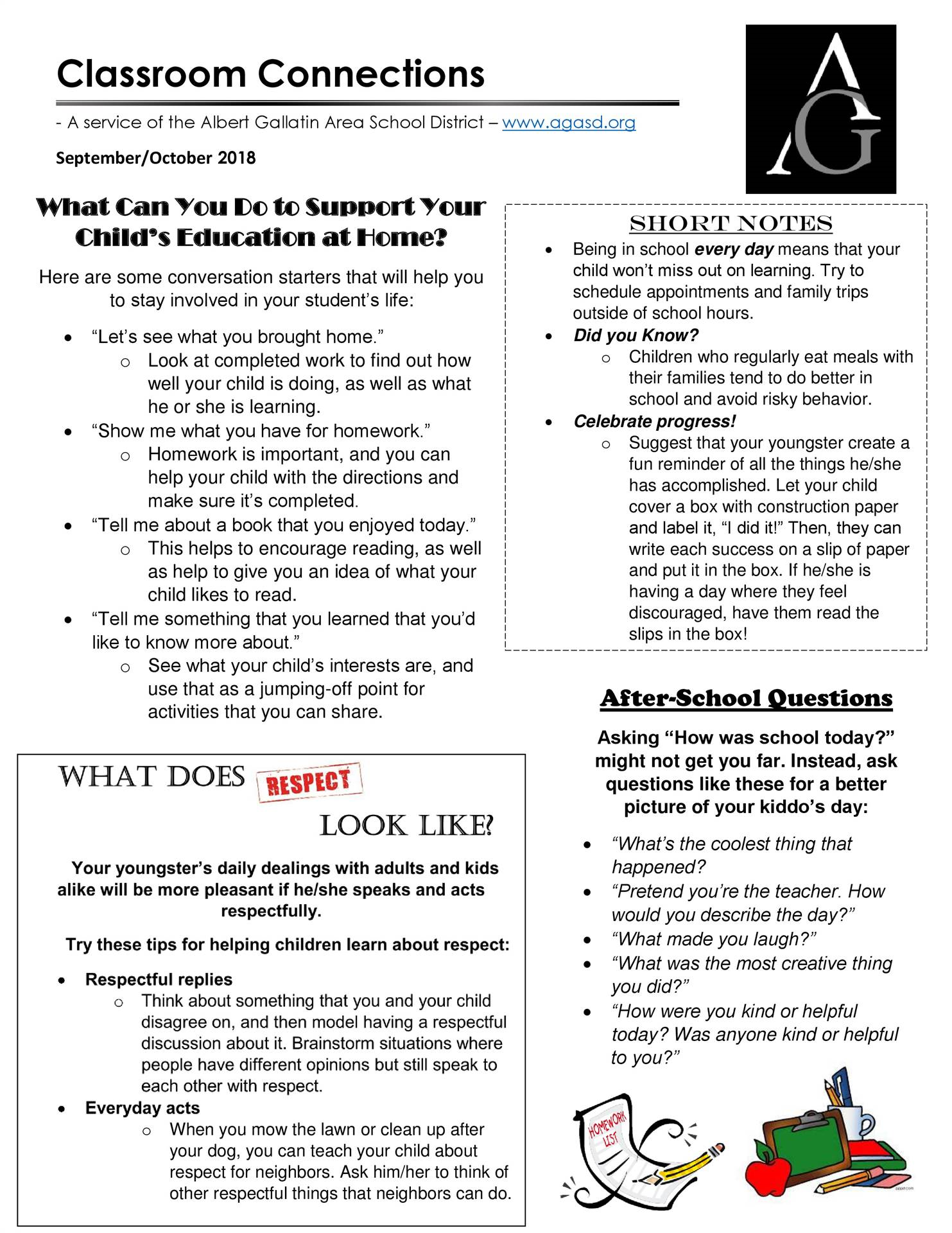 Classroom Connections September-October 2018 newsletter
